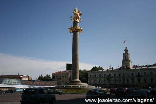 Praça da Vitória em Tbilisi