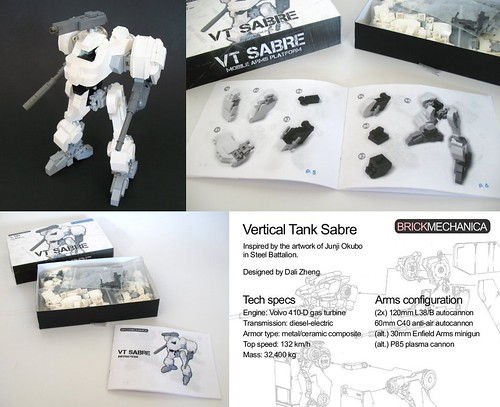 Vertical Tank Sabre -- full kit with printed instructions on sale