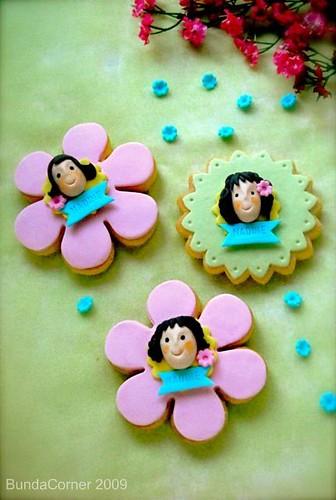 Cookies untuk Nadine (nyoba pke fondant)