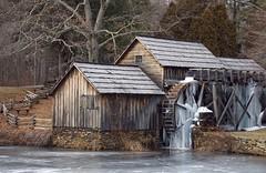 Mabry Mill Frozen (brookvillebeeforever) Tags: ice blueridgeparkway waterwheel mabrymill
