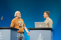 "Tor Norbye and James Gosling, General Session ""The Toy Show"" on June 5, JavaOne 2009 San Francisco"