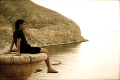 Thom (Motion Look) Tags: playa amanecer roca cala