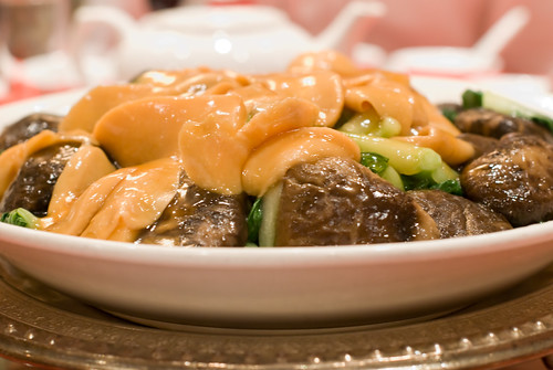 Abalone with Mushrooms and Bak Choi
