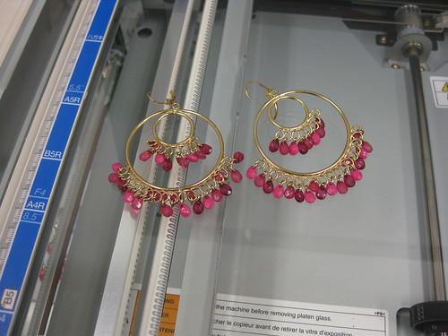 pink gold avon earrings