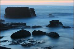 l'isola che non c'.. (Lella Leone Photo) Tags: longexposure blue sunset sea water rock night island waves colours wind punta maestrale carloforte isoladisanpietro colourartaward lellaleone80