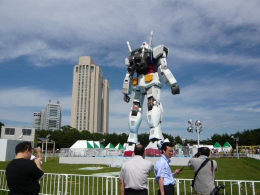 Real scale Gundam constructed at Odaiba, Tokyo