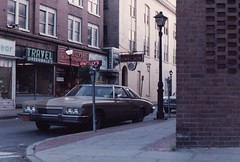 UPTOWN KINGSTON NY IN 1984 (richie 59) Tags: city urban usa streets cars film car america buildings outside us buick spring automobile gm riviera unitedstates headlights historic grill kingston 35mmfilm 1984 drives headlight oldcar 1980s oldcars coupe oldpicture automobiles brickbuilding nystate americancars generalmotors hudsonvalley citystreet kingstonny grills stockade historicbuildings 2door americancar motorvehicles ulstercounty twodoor buicks june1984 oldhotel buickriviera uscar uscars midhudsonvalley americancity ulstercountyny oldbuick buickcoupe tancars circa1984 gmcar tancar gmcars oldbuicks stockadedistrict picturescan 1973buick stuyvesanthotel richie59 1974buick june141984 old35mmpictures