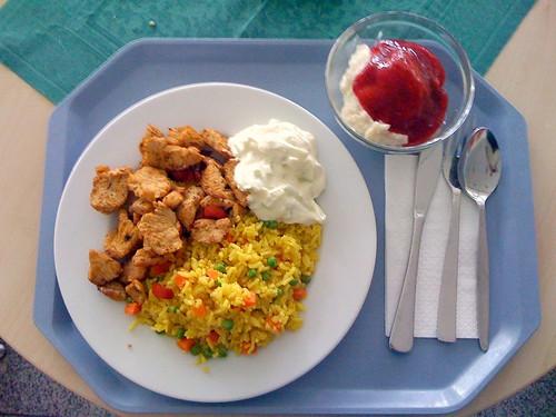 Putengyros mit Curryreis