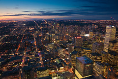 Night Falls on Toronto (DuckBrown) Tags: city vacation toronto ontario canada cityscape cntower dusk events