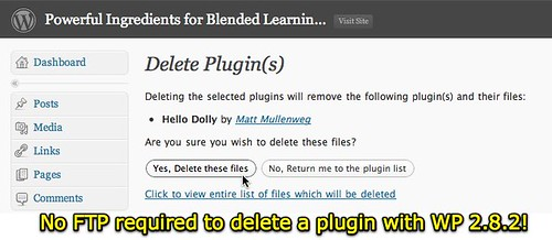 No FTP required to delete a plugin with WP 2.8.2!