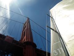 arcadia & north tower (lawatt) Tags: race boat sail mast arcadia ggb northtower eyc santana27 secondhalfopener