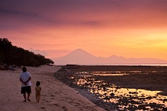Sunset Walk (jeffiebrown) Tags: sunset bali lombok gilitrawangan mountagung giliislands jeffiebrown