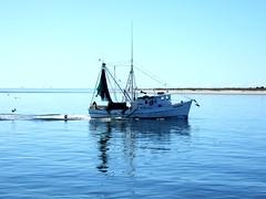 Shrimp boat in Western cut- John Barry (soundingsonline) Tags: boat shrimp shrimping shrimpboat capefearriver oakisland commercialboat