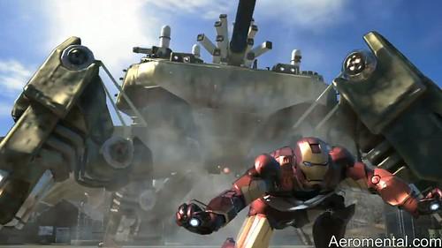 juego Iron Man 2 tanque con 4 patas
