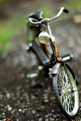 Bokeh ride (afiskandar) Tags: classic lamp bike bicycle vintage indonesia lens 50mm prime miniature interestingness interesting nikon bokeh fast oldschool explore souvenir cycle malaysia round nikkor rim tyre ampang padang dynamo f18d explored hbw d80 bokehlicious bokehwednesday