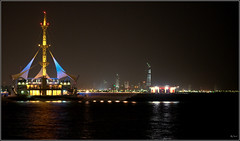 Marina Waves ( Angle ) (Saad Al-Enezi) Tags: lighting light sea water night marina nikon waves colours nightshot nightphoto kuwait kuwaitcity d300 arabiangulfstreet nikond300 saadalenzi arabiangulfbeach