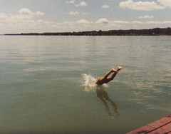 (matt.bower) Tags: summer film 1980s northernmichigan familycollection mullettlake divingoffdock