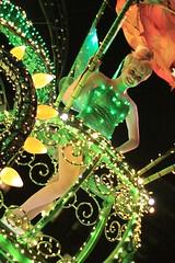 Disney's Electrical Parade: Tinker Bell (armadillo444) Tags: dancers disneyland tinkerbell peterpan disney parade fairy themepark californiaadventure disneyscaliforniaadventure castmembers electricalparade summernightastic