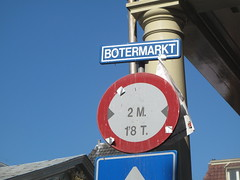 Butter market sign