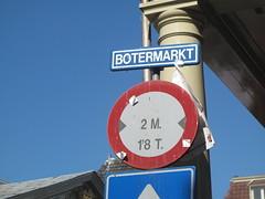 Butter market sign