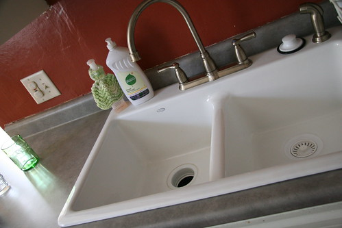 new sink & countertop