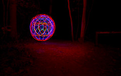forest of the orb - orbmakingmachine (V a s s) Tags: lightpainting sign night forest ball circle woods spin illumination orb hampshire led round tool ledtool doubleyolk wickham 3colour portsmouthatnight orbmaker tiredofwool orbmakingmachine wwwdoubleyolkcouk wwwvassphotographycouk