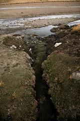 Rejet des eaux usées de la ville... Crucero, Puno, Pérou