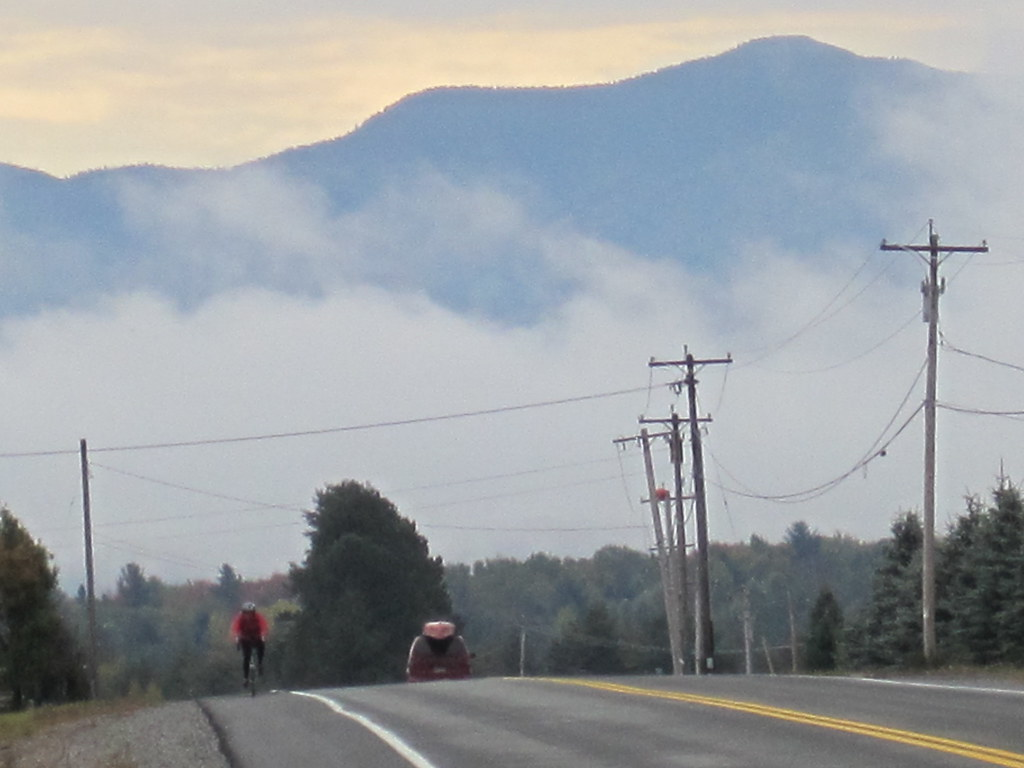 Riding west from Saranac on Route 86