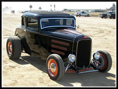 Black and Orange 32 Ford (Dusty_73) Tags: auto california street usa hot classic ford field car america 1932 vintage eagle dos american fresno hotrod rod 32 coupe deuce palos firebaugh