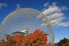 Fall colours at the Biosphere - Montreal (Dr Johnston) Tags: shoji sadao lpfuturistic