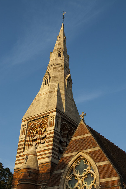 Newly refurbished spire by the_amanda, on Flickr