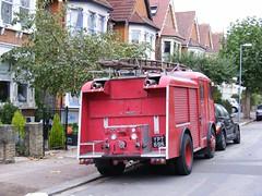Karrier Fire Engine,  London E12. Oct 2009 (sludgegulper) Tags: fire engine kings seven ilford redbridge karrier