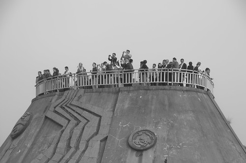 Taking photos at Three Gorges Dam