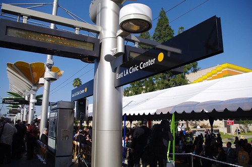 The official opening ceremony at the East L.A. Civic Center station.