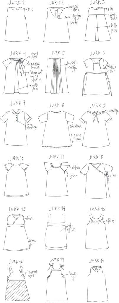 18 kleedjes
