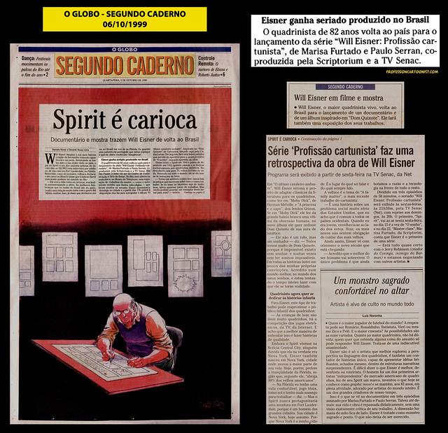 """""""Spirit é carioca"""" - O Globo - 06/10/1999"""