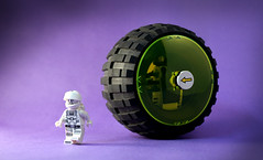 Febrovery 2017 Day 19 (TFDesigns!) Tags: lego space blacktron classic wheel big rover febrovery whitetron