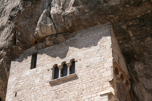 Rocamadour - mur dans la montagne