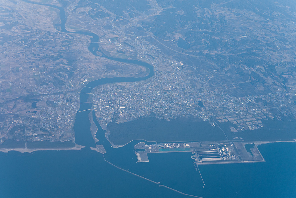 Noshiro City (Noshiro port and River Yoneshirogawa)