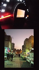 day61 (M!) Tags: old city people cars night lights colours sanaa bab alyemen