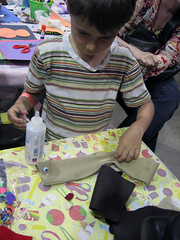 Ewok Sock Puppet Craft (The Official Star Wars) Tags: make starwars craft ewok sockpuppet makerfaire2009