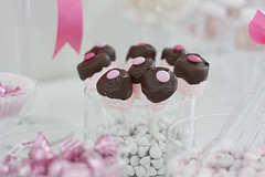 Pink & Chocolate (Blossom Tree Photography) Tags: shower chocolatedipped candybuffet marshmallowpops