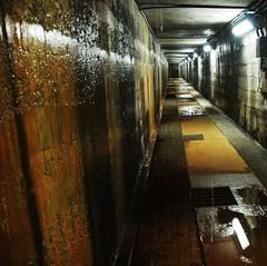Tunnel (7austins) Tags: wet dark underground lights dam tunnel damp leaks