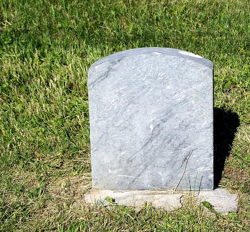blank tombstone look