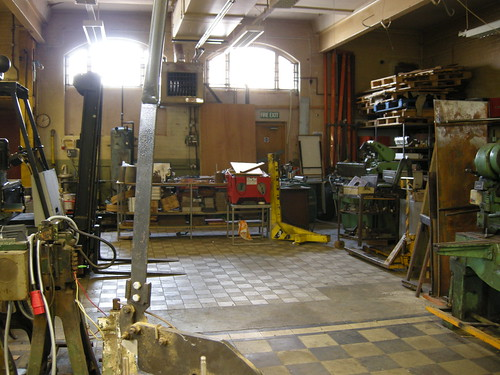 The foundry area
