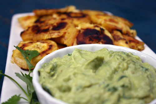 Tostones with Green Sauce 3