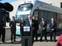 DOT secretary LaHood stumps for light rail (by: USDOT)