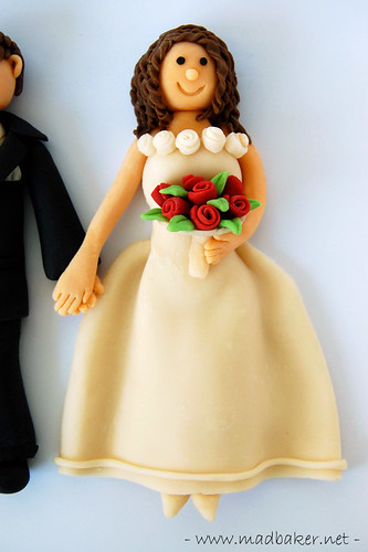 Bride Cake Topper Closeup