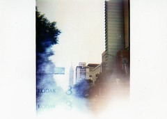 Torre LatinoAmericana: Mexico City: Holga (Citoyen du Monde Inc) Tags: film mediumformat mexico holga travels mexicocity kodak holga120s color120 holgarocks kodak120color
