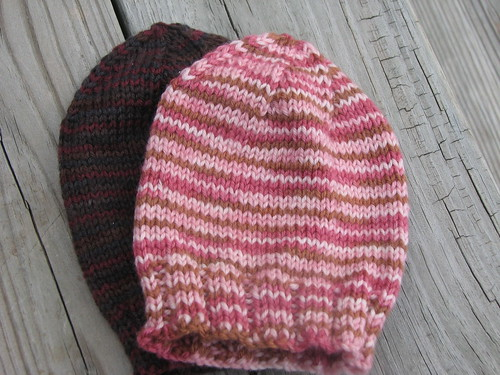 Baby Hats, Artyarns Supermerino, Scraps